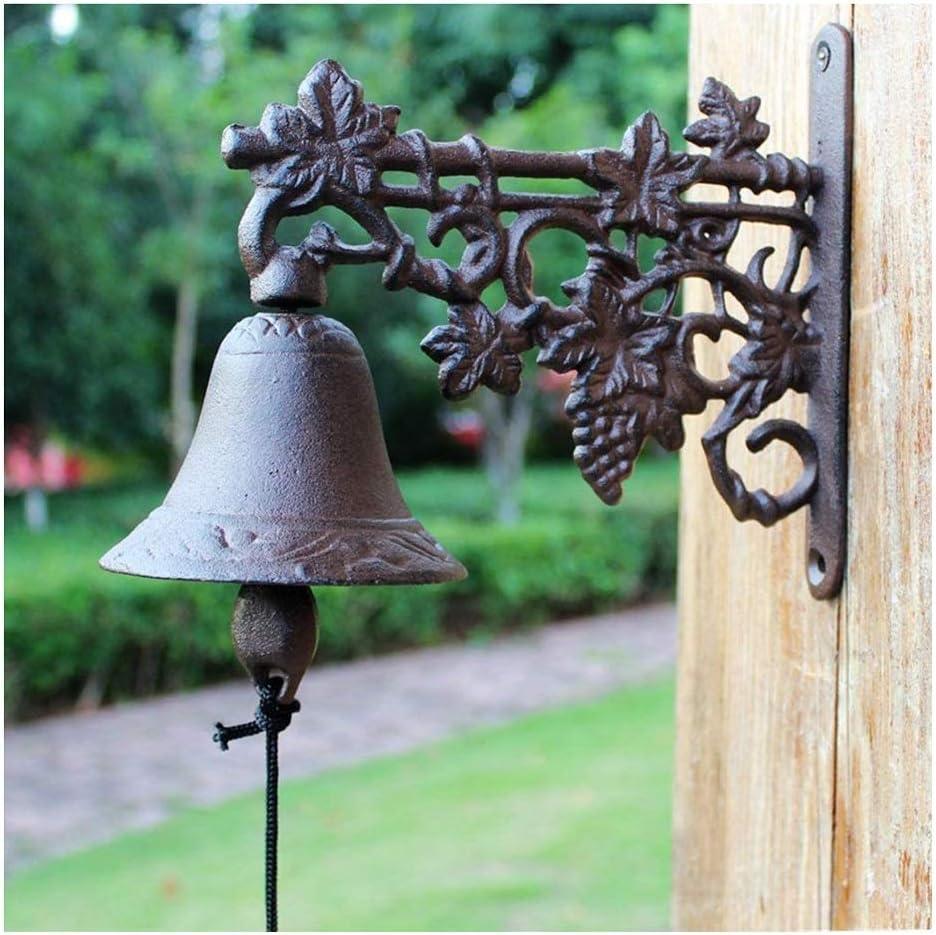 LXING Antique Decor Bell Super popular specialty store Superlatite Doorbell Outdoor Iron Dinner Cast