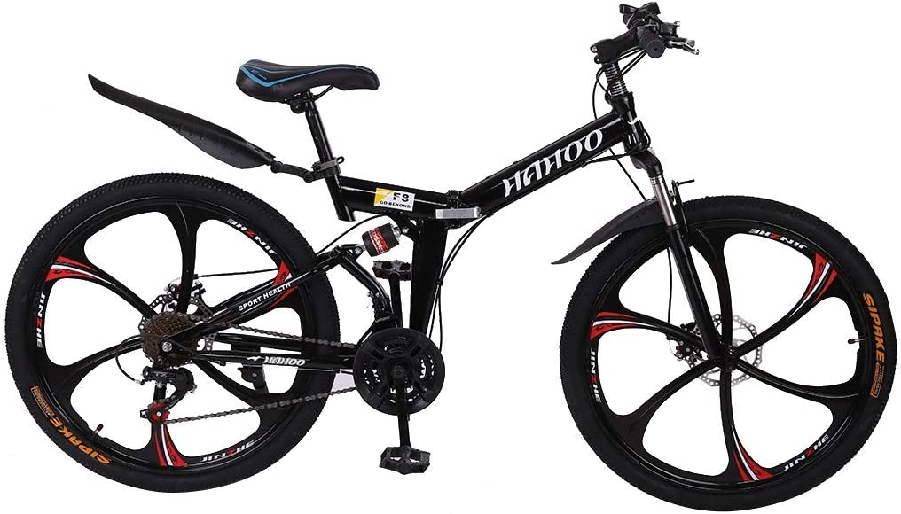 1 Oklahoma City Mall year warranty 26In Foldable Bicycle Mountain Bike - High 21 Carbon Speed Steel