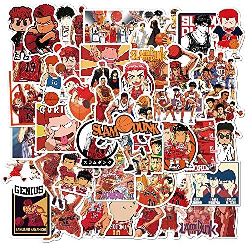 HENJIA 50 Pezzi Adesivo Personaggio dei Cartoni Animati Anime Casco Valigia Laptop Vetro Adesivo Rimovibile Impermeabile