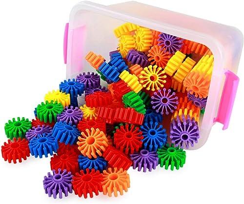 ventas en linea Pkjskh 40 PCS Gear Building Blocks, Niños de 3 años años años en adelante, desarrollo intelectual, multifuncional projoección ambiental creativa Material del ABS Color brillante engranaje Conjunto de bloques par  contador genuino