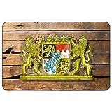 Cadora, targa magnetica per il frigorifero, motivo con bandiera della Baviera, in stile shabby chic, dall'ottica vintage