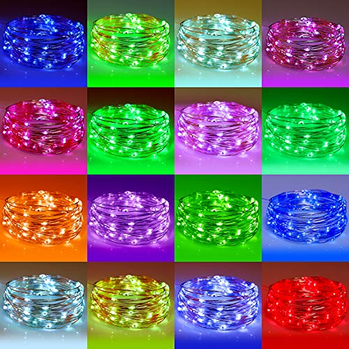 YOZATIA Battery Operated and USB Powered String Lights, 26ft 80LED Fairy Lights, Waterproof Multicolor Changing String Lights with Remote Control for Indoor Outdoor Bedroom Party Christmas, 16 Colors.