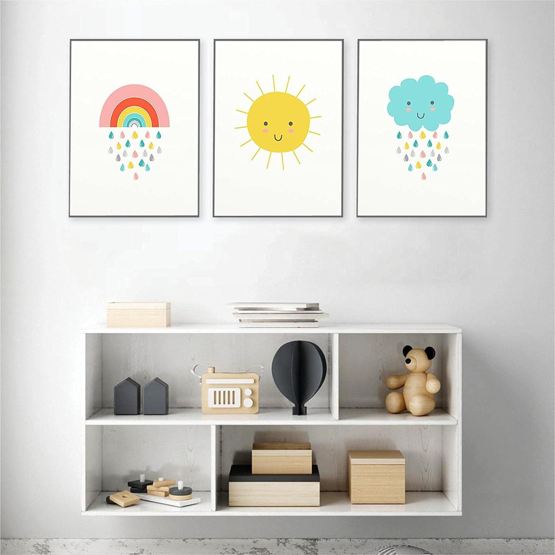 YQLKC Modern OFFicial Rainbow Canvas Art Austin Mall Painting Minimali Nursery Prints