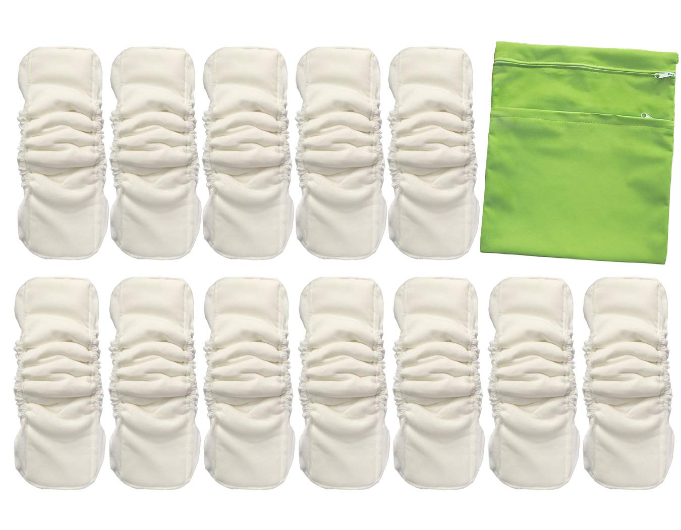 Vlokup Baby Waterproof Cloth Diaper trend rank Large special price with Layer Inserts Gussets 5
