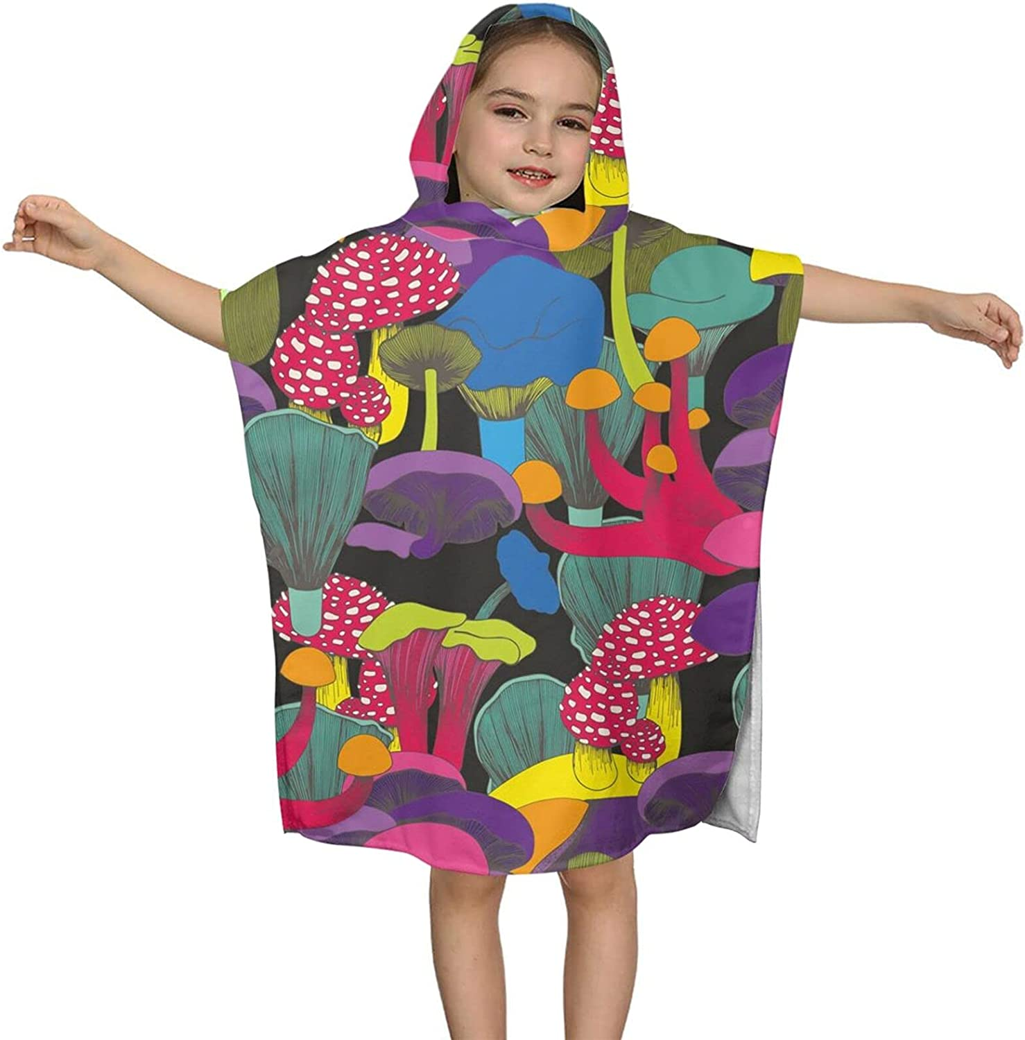 Hooded 2021 autumn and winter new Bath Towel Colorful Soft Kids Baltimore Mall Wrap Mushroom