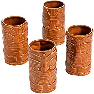 Classic Ceramic Tiki Mug Set - Box of 4