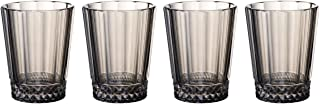 Villeroy & Boch 1137908140 Opera Smoke Water/Juice Glass : Set of 4, 4.25 in/10.5 oz, Clear/Gray