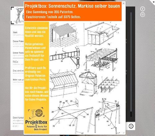 Sonnenschutz, Markise selber bauen: Deine Projektbox inkl. 355 Original-Patenten bringt Dich mit Spaß ans Ziel!