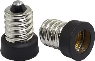 ToToT 2PCS E14 to E12 Lamp Holder Converters Bulb Socket Adapter