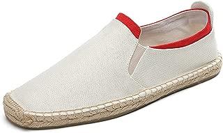 Yuchun Slip-on Men Lazy Shoes Summer Flats Man Breathable Casual Hemp Loafers