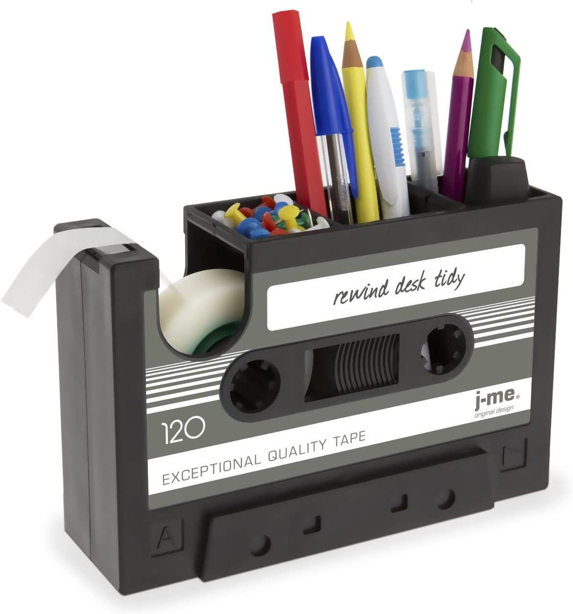 Quality inspection Cassette Tape Dispenser Pen Holder Pot De Pencil Stationery Quality inspection Vase