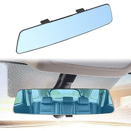 Semine 2 5d High Definition Auto Rückspiegel Oberfläche Ohne Rand Blendschutz Blauer Spiegel Autozubehör Küche Haushalt