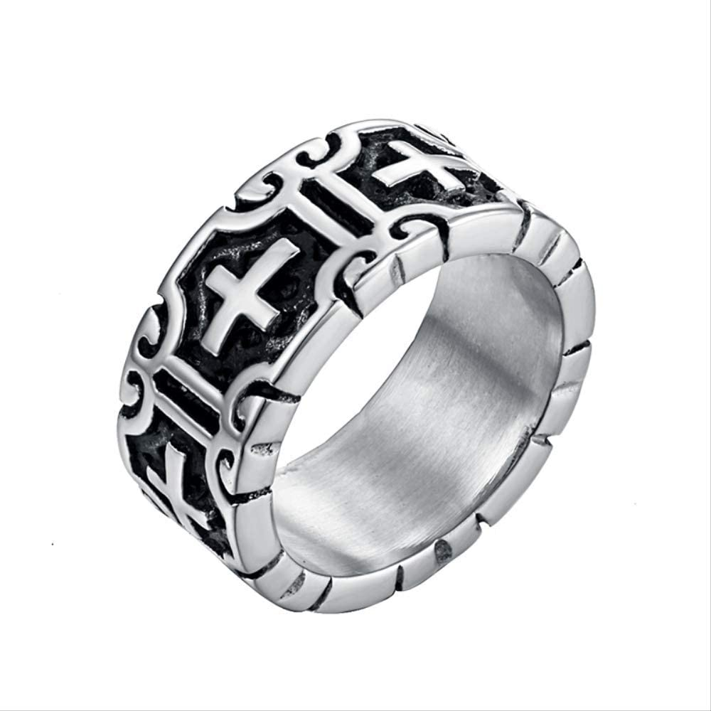 Classic Retro Challenge Max 53% OFF the lowest price of Japan ☆ Christian Jesus Cross Christi Ring Stainless Steel