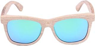LY4U Occhiali da sole in legno da uomo e da donna Occhiali vintage con lenti polarizzate Occhiali da sole unisex con scato...