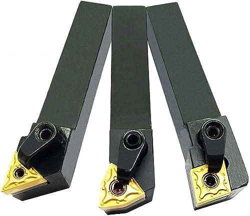 "high quality ASZLBYM 3PCS high quality 5/8"" Left Cutting online CNC Lathe Carbide Excircle Indexable Turning Tool Holder Bit Set MTJNL1616H16 + MWLNL1616H08 + MCLNL1616H12 With 3pcs wnmg431, cnmg431, tnmg331 Indexable Carbide Inserts outlet online sale"
