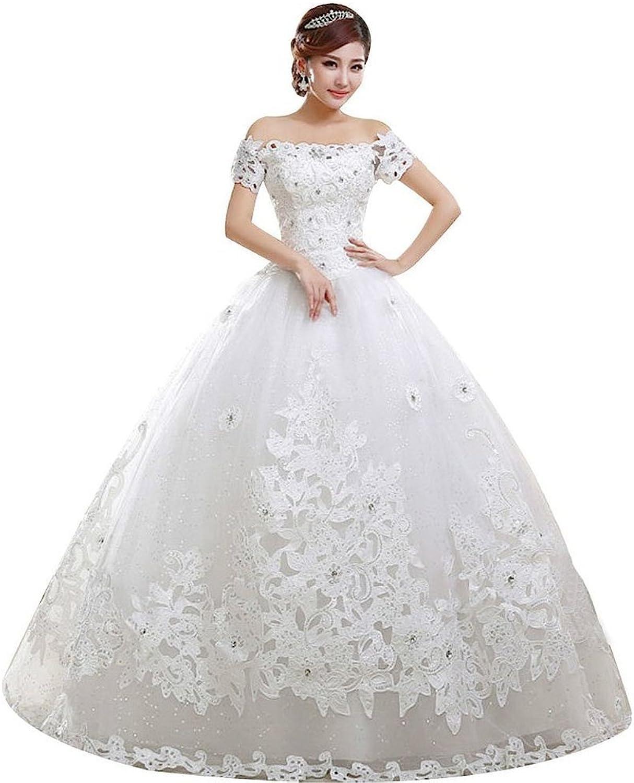 Shanghai Story Flat Shoulder ALine Bridal Gown Wedding Dress Bride