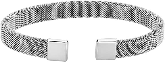 Caterina Jewelry Men's Stainless Steel Mesh Bracelet