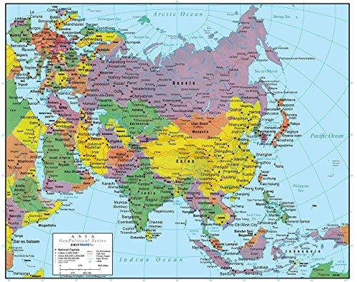 Swiftmaps Asia Wall Map GeoPolitical Edition (36x44 Laminated)