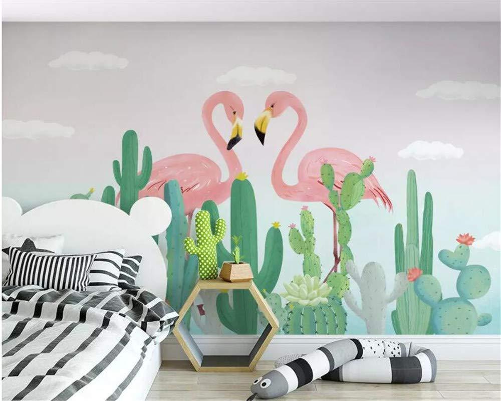 Papel tapiz 3D para el dormitorio Dibujado a mano, planta tropical ...