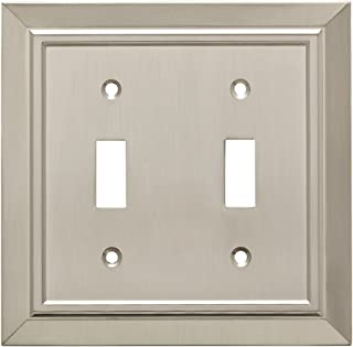 Franklin Brass W35220-SN-C Classic Architecture Double Toggle Switch Wall Plate/Switch Plate/Cover, Satin Nickel
