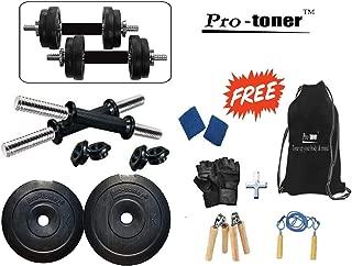 Protoner 10kg Adjustable Dumbbells with String Bag