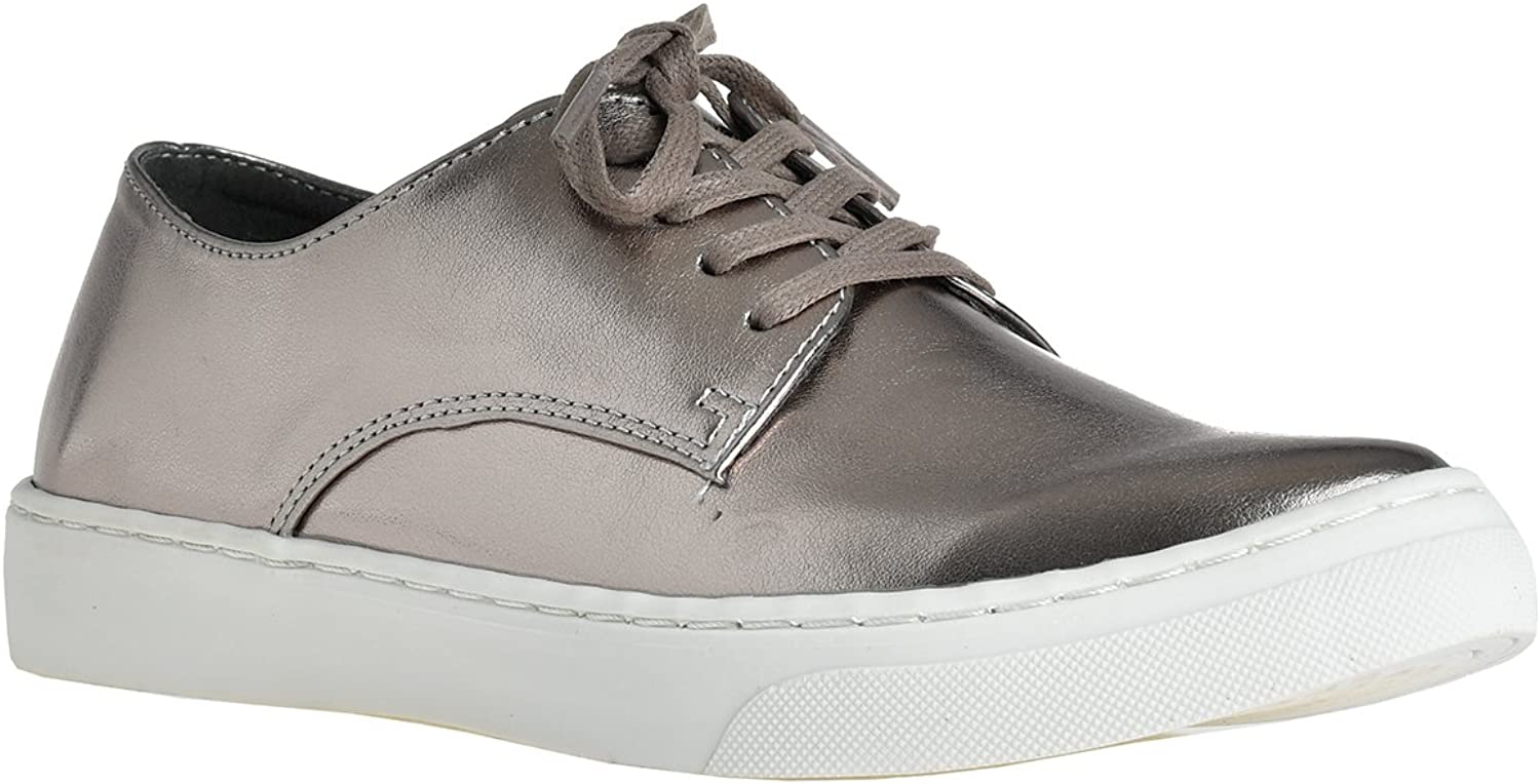 LUSTHAVE Women's Lace Up Fashion Sneakers Loafer Flats by