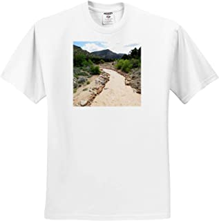 Adult T-Shirt XL 3dRose Jos Fauxtographee- Stream The Muddy River in Fiddlers Canyon in Cedar City Utah ts/_309718