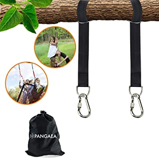 Tree Swing Hanging Straps Kit, Heavy Duty Holds 2200LBS 5FT Extra Long, with Safer Lock Snap Carabiners & Carry Pouch Bag