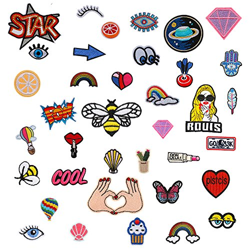 LaMarre 37 Pcs Optional Types Of Cake Patch Patches Iron Embroidery Clothes Iron Patches Clothing Stitching Accessories Badge