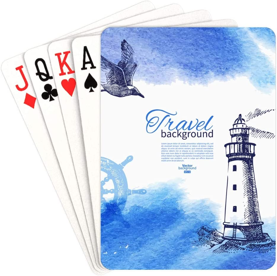 WUTMVING Playing Award-winning store Cards Special Campaign Poker Standing Tall Straight Lighthou and