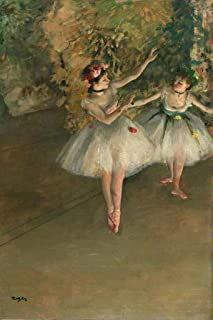 Edgar Degas Two Dancers On The Stage Ballerina Cool Wall Decor Art Print Poster 24x36