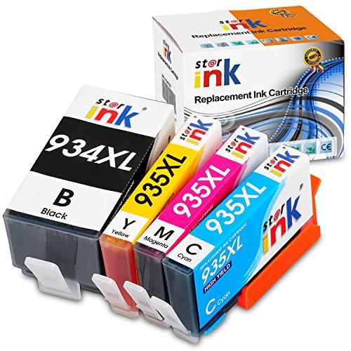 Starink Compatibile per HP 934XL 935XL 934 935 XL Multipack cartucce per stampante HP Officejet Pro 6230 6830 6815 6812 6835 6820 (nero, ciano, magenta giallo) 1 set