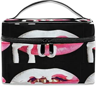 Cosmetic Bags Kylie Jenner Lip Logo Portable Multifunction Case Makeup Organizer For Women