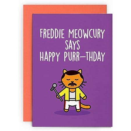 Husband Boyfriend Wife I Love You QUEEN FREDDIE MERCURY Birthday Card