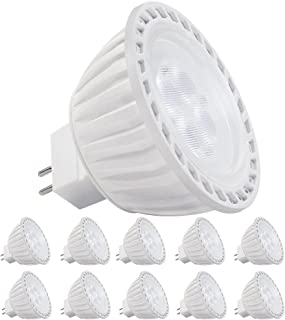10 Pack AC/DC 12V 5W MR16 LED Bulb - 50W Halogen Equivalent 5000K Daylight