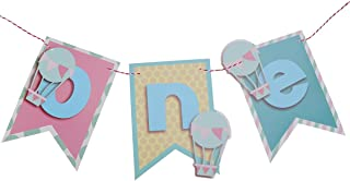 Baby 1st Birthday Bunting Banners Garland Party Decoration Favors Supplies (Blue)