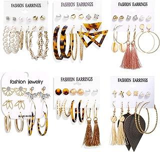 Best large hoop dangle earrings Reviews