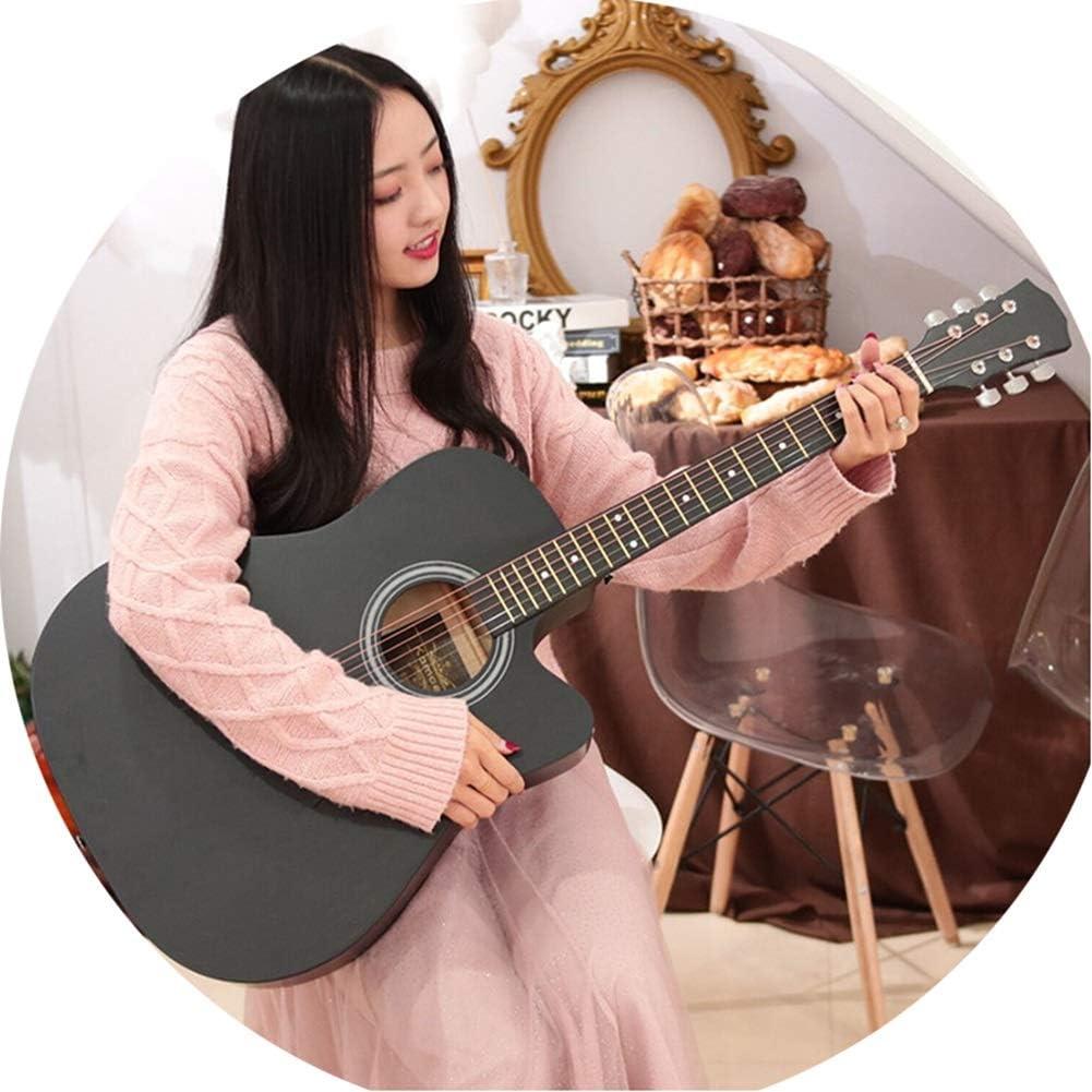 YJFENG-Guitarra Acústica Cuerdas De Bronce No Lastimar Los Dedos Fácil De Jugar Cutaway Guitarra Balada Acompañamiento Principiante con Correa for El Hombro,7 Colores (Color : E, Size : 103.5cm)