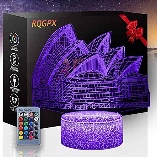 Sydney Opera House - Auriculares de regalo de Navidad con lámpara de ilusión 3D, regalo perfecto para niños y decoración de habitación Darth Vader
