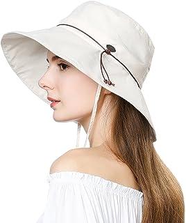 Fancet Packable Sun Bucket Uv Ponytail Hat Women Beach Safari Hiking Travel Bonnie 55-61cm