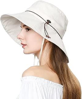 UV50 可折叠太阳帽女式马尾巴孔 Safari 沙滩钓鱼渔夫帽 55-61 厘米