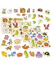 RB/&G Puzzle in legno con parti grandi Puzzle Safaritiere per bambini a partire da 1 anno di ippopotamo /& Co.
