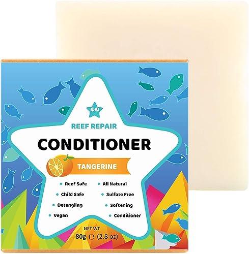 Reef Safe Conditioner Bar - Tangerine. All Natural Vegan Conditioner, Detangling, Softening, Biodegradable, Family Sa...