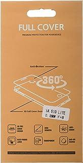 شاشة حماية جلاتين بحماية كاملة 360 درجة لهاتف سامسونج جالكسي S10 لايت، شفاف