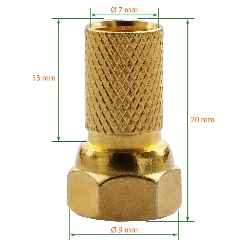 Extremadamente Plano UC-Express Cable de Antena para pasaventanas Sat 0,3 mm Conector F sin Agujeros Cable de Antena 2 Conectores F Hembra Cable Plano de 26 cm