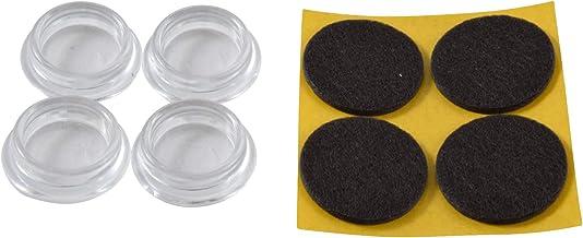 GleitGut Meubelonderzetters glijschaal rond met vilt zwart 4 stuks meubelbescherming transparant (30 mm)