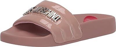 LOVE Moschino High Shine Slide (Cipria) Women