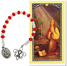 The Chaplet of Mary Magdalene Czech Crystal Beads and Silver Ov Free Hc Blessed by HIS Holiness