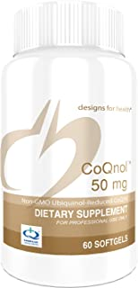 Designs for Health Ubiquinol (CoQ10) 50mg - CoQnol, Non-GMO + Reduced CoQ10 (60 Softgels)