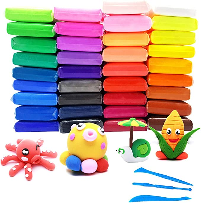 71 opinioni per GOODJING Modeling Clay 36 Color Plasticine Air Dry Clay, 36 Pack Ultra Light